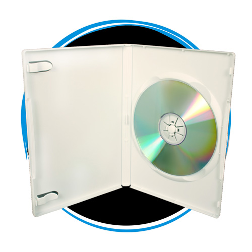 100 Pack 14mm Standard Single White DVD Cases, Professional Grade. 100% New Material.
