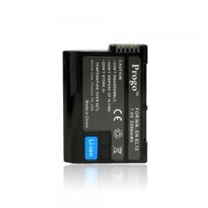 Progo EN-EL15 Li-Ion Rechargeable Battery for Nikon D600, D7000, D800, D800E, & 1 V1 Digital Cameras